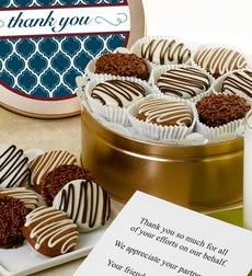 Thank You! Belgian Chocolate Covered Oreo Tin
