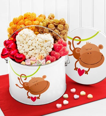 Popcorn Monkey Love Fun Pail