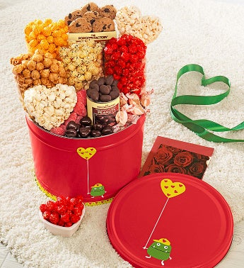 Popcorn Valentine Monster Snack Asst. Tin