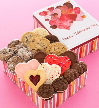 Cheryl's Hearts Gift Tin With Treats