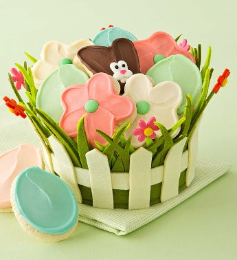 Cheryl's Easter Blooms Felt Basket