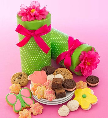 Cheryl's Silk Flower Gift Box With Treats