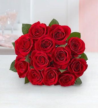One Dozen Red Roses - 1-800-Flowers