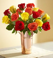 Autumn Rose Bouquet + Free Premium Vase
