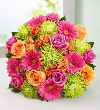 Vibrant Blooms Bouquet - Double Bouquet - 1-800-Flowers
