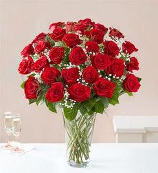 Ultimate Elegance Premium Long Stem Red Roses - Three Dozen Red Roses