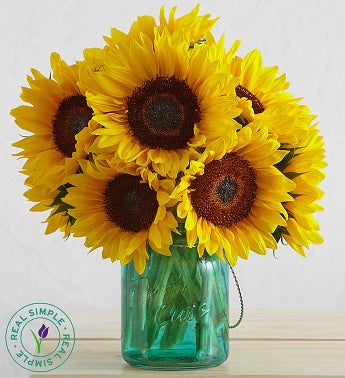 image of Sunflowers with Mason Jar By Real Simple®