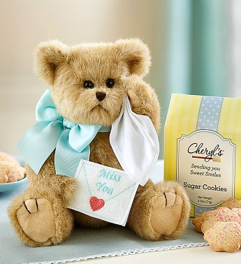 Bearington� Beary Blue Miss You Bear and Cookies