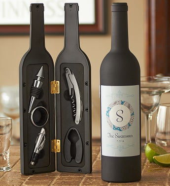 Personalized On-the-Go Wine Tool Kit - 1-800-Flowers