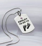 Personalized New Mom Necklace