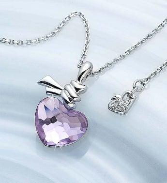 SWAROVSKI Ties Of Love Crystal Heart Necklace - 1-800-Flo...