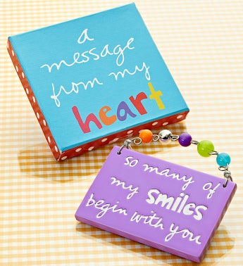 A Message from the Heart Artisan Plaque