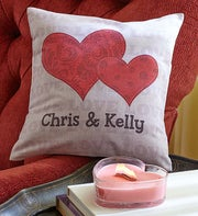 Personalized Couples Throw Pillow