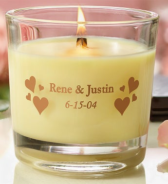 Personalized Woodwick� Candle for Romance
