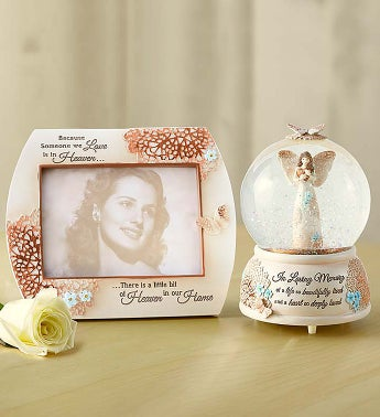 Angel Snow Globe - Forget Me Not Sympathy Snowglobe and F...