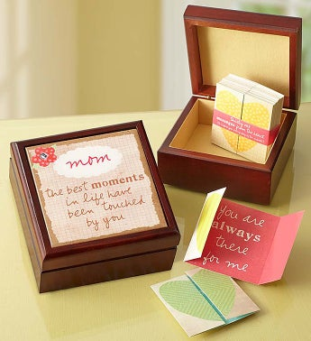 Personalized Keepsake Box & 31 Inspirational Notes - Keep...