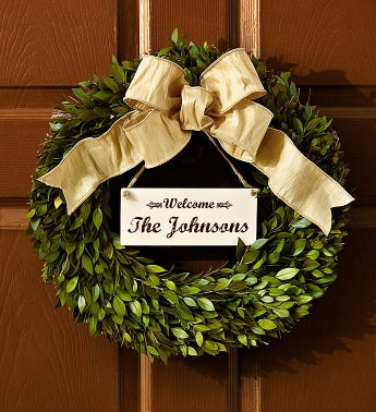 "Personalized Preserved Wreath - 16"" - 1-800-Flowers"