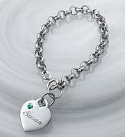 Personalized Birthstone Charm Bracelet