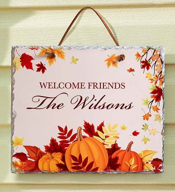 Personalized Autumn Slate Sign