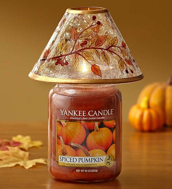 Yankee Candle Pumpkin Spice with Fall Shade