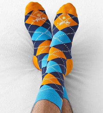 Good Day Argyle Socks for Men - 1-800-Flowers