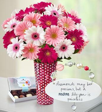 Precious Mom Gerbera Daisy Bouquet
