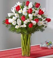 Holiday Tulip & Iris Bouquet