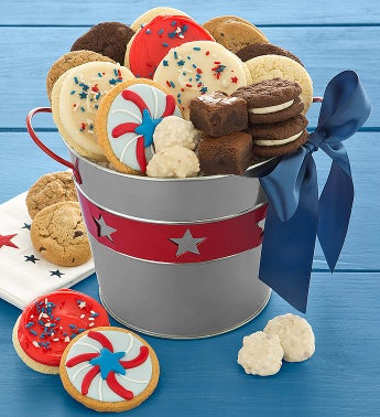 Cheryl's Americana Buttercream Bucket w/ Treats