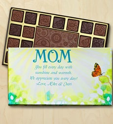 Mothers Day Personalized Chocolate Box - Mothers Day Chocolate Box-Butterfly