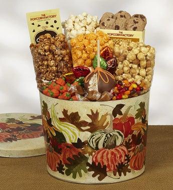 Popcorn Factory Autumn Falling Snack Asst Tin 2G