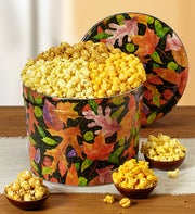 The Popcorn Factory Fall Colors 3 Way Popcorn Tin