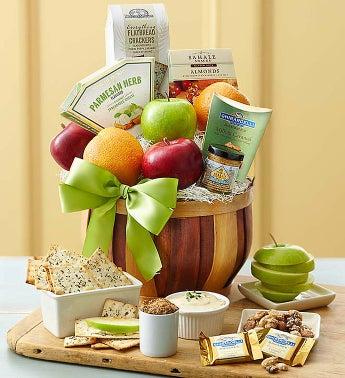 Harvest Gathering Fruit and Gourmet Gift Basket - 1-800-Flowers