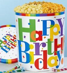 The Popcorn Factory Big Birthday Popcorn Tin - Big Birthday Popcorn Tin - 4 Flavor 6.5G
