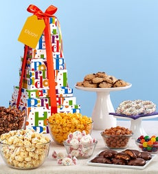 The Popcorn Factory Big Birthday Tower - The Popcorn Factory Big Birthday Tower - 6 tier