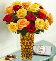 Autumn Rose Bouquet, 18 Stems