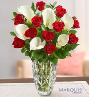Luxurious Red Rose and Calla Lily Bouquet