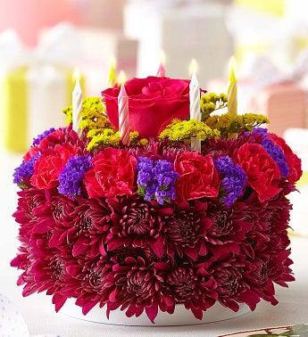 Birthday Flower Cake Purple - 1-800-Flowers