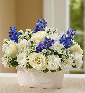 Peace and Healing Blue & White - 1-800-Flowers
