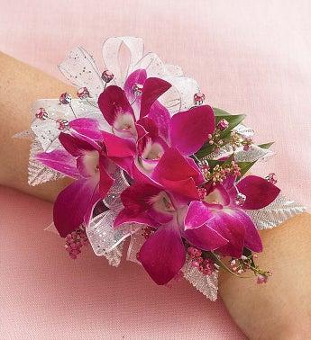 Purple Dendrobium Orchid Corsage - 1-800-Flowers