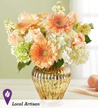 Peach Splendor Bouquet - 1-800-Flowers
