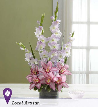 Simply Divine Gladiolus and Orchid Arrangement - 1-800-Fl...