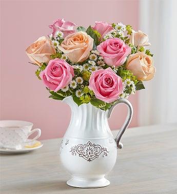 Pitcher Full of Roses - Medium - 1-800-Flowers