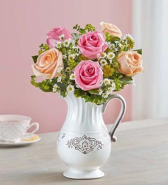 Pitcher Full of Roses - 1-800-Flowers