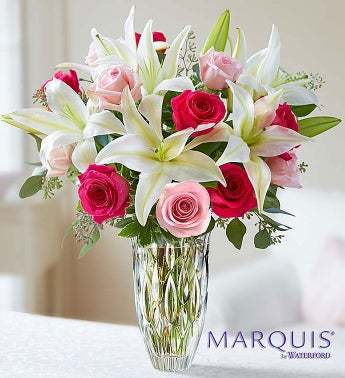 Marquis by Waterford Rose and Lily Bouquet - large - 1-80...
