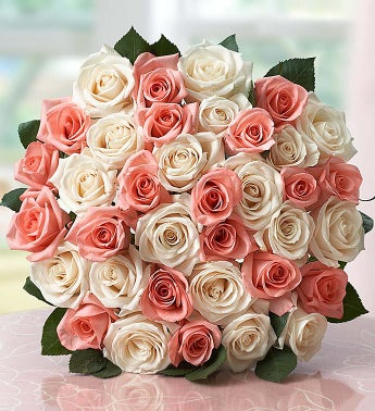 Lovely Mom Roses, 18-36 Stems - 36 Stems Bouquet Only - 1...
