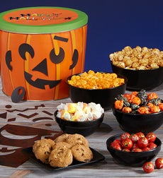 The Popcorn Factory Pumpkin Tin with Magnets - The Popcorn Factory Pumpkin Tin w/Magnets