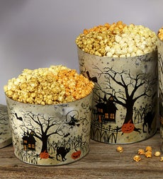 The Popcorn Factory Fright Night Popcorn Tin - Fright Night 3.5 Gal 3-flavor Popcorn Tin