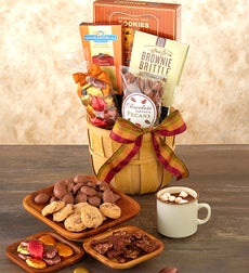 Shades of Autumn Chocolates and Sweets Basket - Autumn Chocolates & Sweets Basket