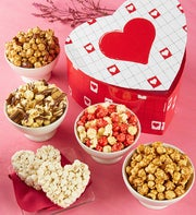 The Popcorn Factory Be My Valentine Hinged Box
