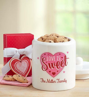 Personalized Love is Sweet Cookie Jar - Personalized Love...